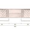 Class sideboard size 100x100 - DUTCHBONE Class kummut