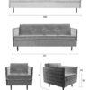 Jaey size 100x100 - 3-местный диван ZUIVER Jaey – 4 цвета
