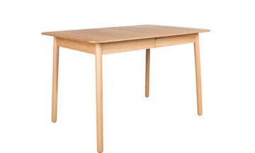 Glimps table 1 360x216 - ZUIVER Glimps раздвижной обеденный стол, цвет натуральный 120/162x80 cm