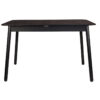 Glimps table black 0 100x100 - ZUIVER Glimps раздвижной обеденный стол – разные цвета и размеры