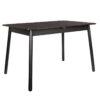 Glimps table black 1 100x100 - ZUIVER Glimps раздвижной обеденный стол – разные цвета и размеры