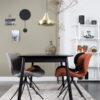 Glimps table black interior 100x100 - ZUIVER Glimps pikendatav söögilaud - erinevad värvid ja suurused