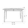 Glimps table size 100x100 - ZUIVER Glimps раздвижной обеденный стол – разные цвета и размеры
