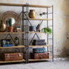 Iron shelf system 100x100 - DUTCHBONE Iron raamaturiiul