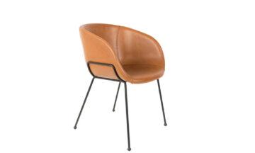 Feston brown 0 360x216 - Стул ZUIVER Feston, коричневая искусственная кожа