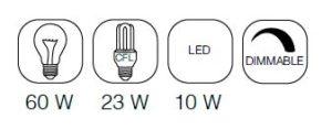 SnipImage 300x118 - ZUIVER Dek 40 laelamp - 3 värvi