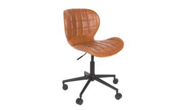 1300006 00 360x216 - Офисный стул ZUIVER OMG - коричневая искусственная кожа