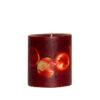 Ludo Red 03933 100x100 - Käsitööküünal Ludo punane