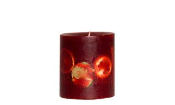 Ludo Red 03933 360x216 - Свеча ручной работы Ludo, красная