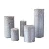 metalne hõbe01 100x100 - Свеча металлическая, серебристая - 5 размеров