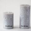 metalne hõbe 1 100x100 - Свеча металлическая, серебристая - 5 размеров