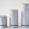 metalne hõbe 2 100x100 - Свеча металлическая, серебристая - 5 размеров