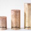 metalne kuld 2 100x100 - Свеча металлическая, золотистая - 6 размеров