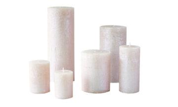 metalne roosa01 360x216 - Свеча металлическая, розовая - 6 размеров