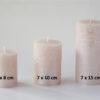 metalne roosa 1 100x100 - Küünal metalne roosa - 6 suurust