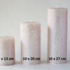 metalne roosa 2 100x100 - Küünal metalne roosa - 6 suurust
