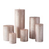 metalne roosa kuld01 100x100 - Свеча металлическая, розовое золото - 6 размеров