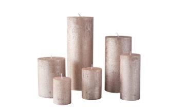 metalne roosa kuld01 360x216 - Свеча металлическая, розовое золото - 6 размеров