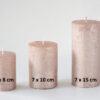 metalne roosa kuld 1 100x100 - Свеча металлическая, розовое золото - 6 размеров