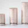 metalne roosa kuld 2 100x100 - Свеча металлическая, розовое золото - 6 размеров
