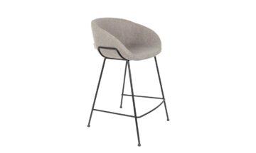1500063 00 360x216 - Низкий барный стул ZUIVER Feston, серая ткань