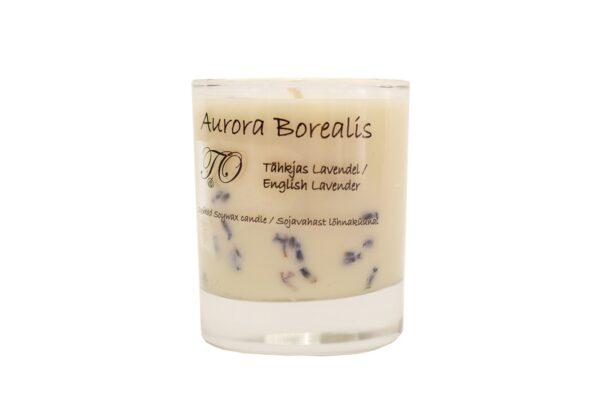 Tähkjas lavendel 600x407 - Sojavaha küünal Aurora Borealis - Tähkjas lavendel