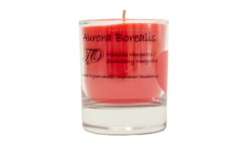 maasika margarita 360x216 - Sojavaha küünal Aurora Borealis - Maasika Margarita