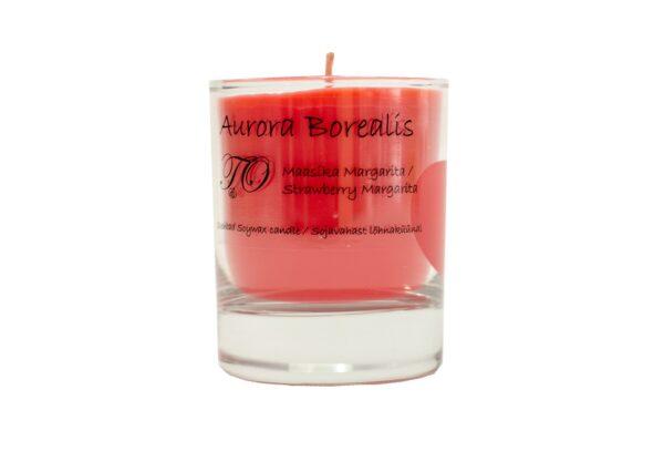 maasika margarita 600x407 - Sojavaha küünal Aurora Borealis - Maasika Margarita