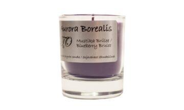 mustika brülee 360x216 - Sojavaha küünal Aurora Borealis - Mustika brülee