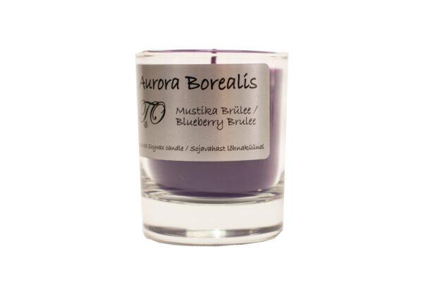 mustika brülee 600x407 - Sojavaha küünal Aurora Borealis - Mustika brülee