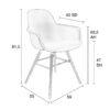 size 2 100x100 - ZUIVER Albert Kuip tool käetugedega - 6 värvi