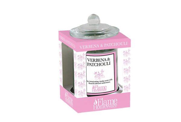 47107 1 600x407 - Ароматическая свеча Flame - Verbena & Patchouli