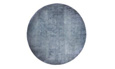 LINEN DARK BLUE round 400x240 - FARGOTEX Linen dark blue, ümar - 2 suurust