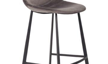 1500066 0 360x216 - DUTCHBONE Franky бархатный барный стул, низкий, серый