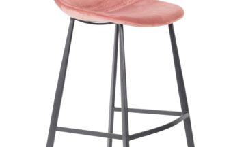 1500069 0 360x216 - DUTCHBONE Franky бархатный барный стул, высокий, старая роза