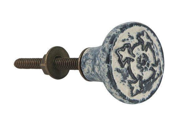0510 00 1 600x407 - Kapinupp keraamiline antiik  viimistlus must/valge mustriga