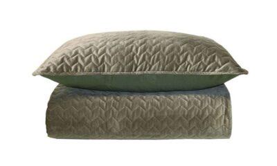 83088193 400x240 - Покрывало на кровать зелёный бархат