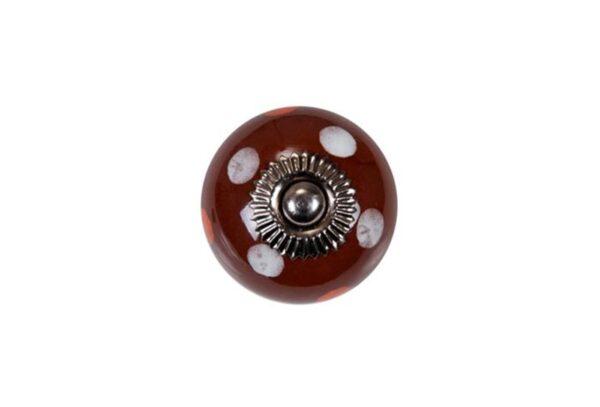 KN160 p 600x407 - Ручка для ящика керамическая, коричневая