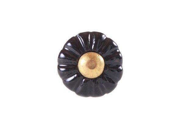 kn1030 p 600x407 - Ручка для ящика керамическая чёрная