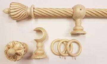 01486 360x216 - Puidust kardinapuu 240cm, kreem/kuld
