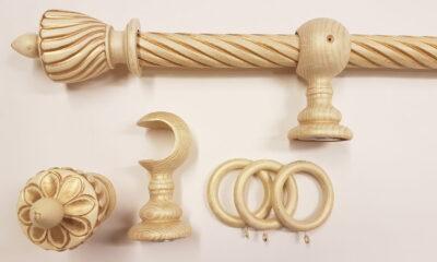 01486 400x240 - Puidust kardinapuu 240cm, kreem/kuld