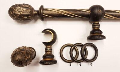 01487 400x240 - Puidust kardinapuu 240cm, must/kuld