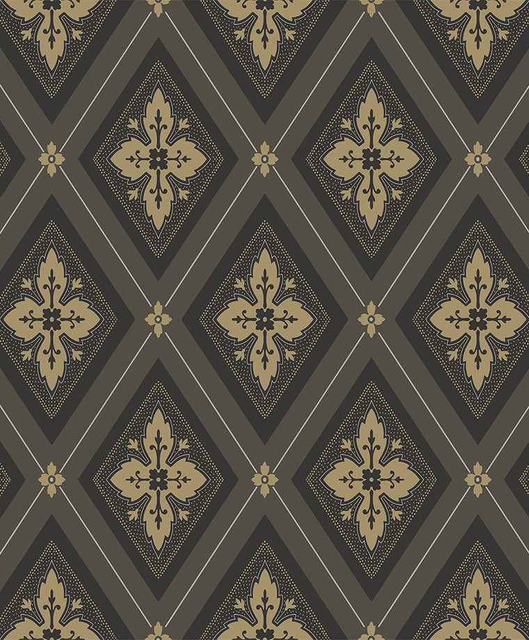 692-04 Astrid svart-guld
