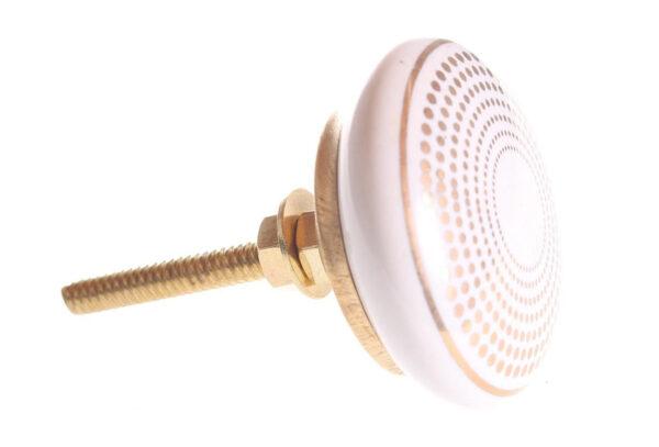 28812 600x407 - Kapinupp valge kuldsete täppidega 4,1cm